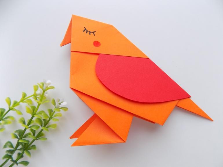 Как сделать птичку с посланием в виде сердца