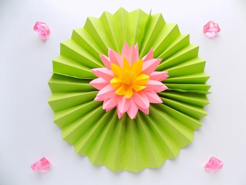 Как сделать цветок лотоса из бумаги