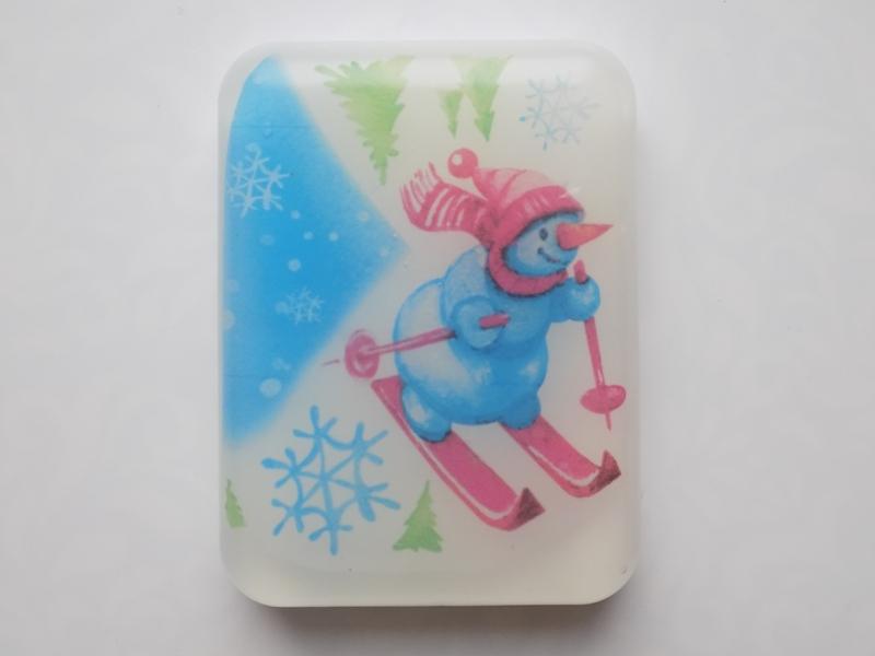 Мыло акварельное Снеговик