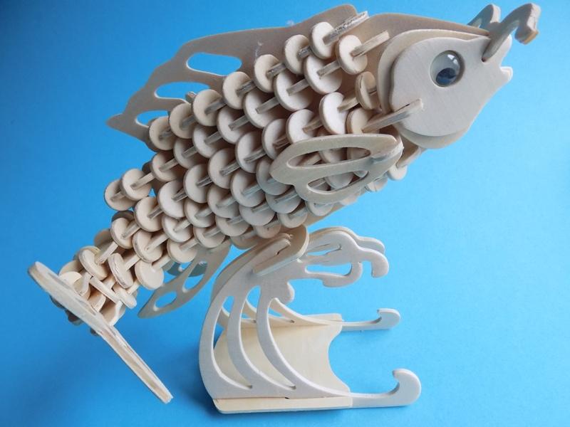 Сборная деревянная модель «Карп»